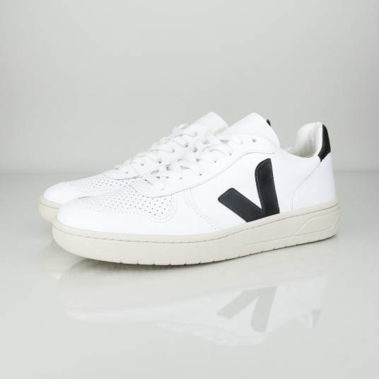 V10 LEATHER EXTRA WHITE BLACK