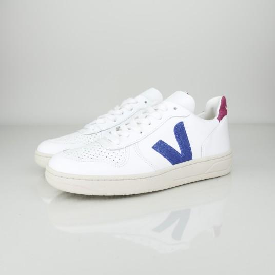 V10 LEATHER EXTRA WHITE NEON MAGENTA