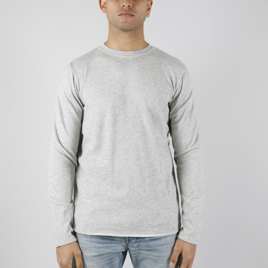 TERRY TS LS FABRIC GRIS