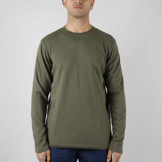 TERRY TS LS FABRIC OLIVE