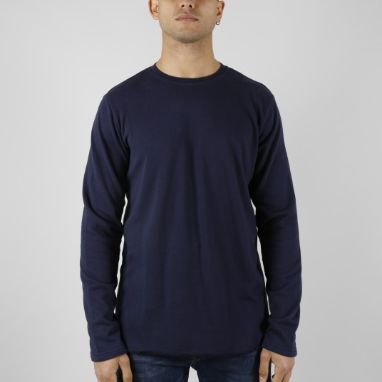 TERRY TS LS FABRIC NAVY