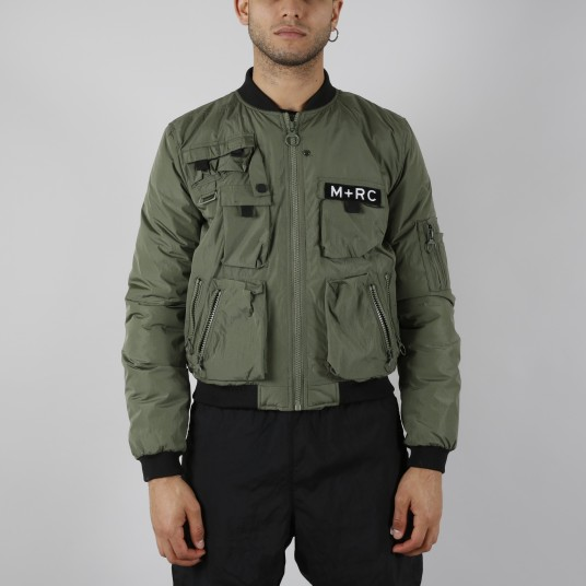 MULTIPOCKET BOMBER GREEN