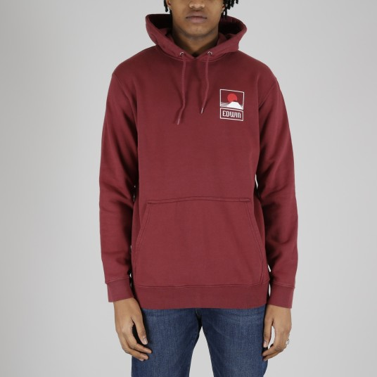 SUNSET ON MT FUJI HOODIE SWEAT FELPA