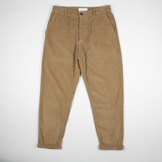 CORD PLEATED TRACK PANT